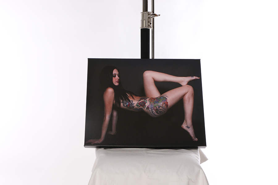 Canvas Print Tattooed Model Image