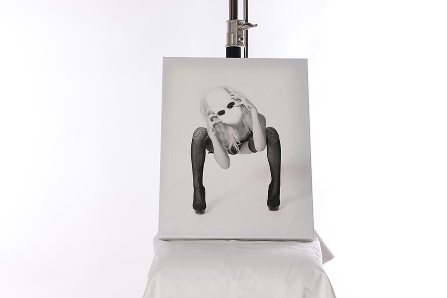 Canvas Print Creepy White Mask 1 of 3 Image
