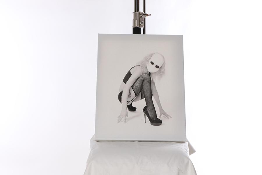 Canvas Print Creepy White Mask 2 of 3 Image