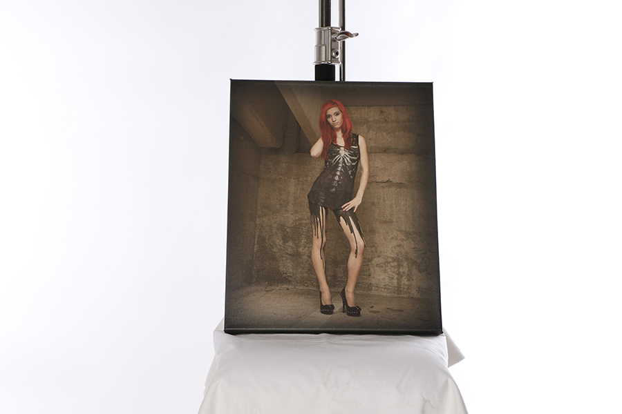 Canvas Print Melting Image