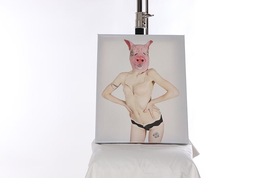 Canvas Print Pig Mask Image