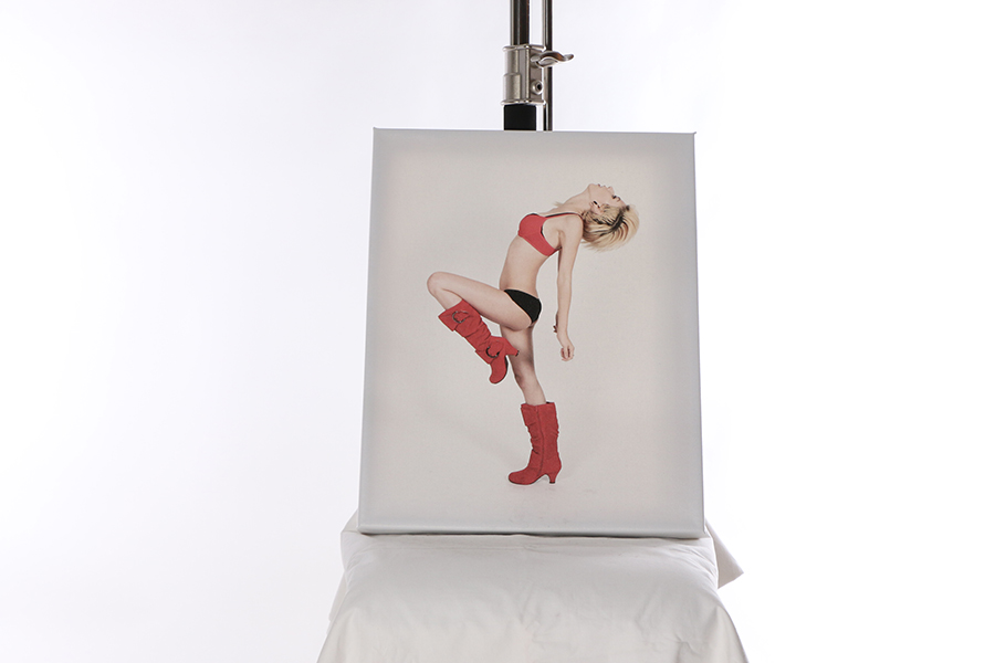 Canvas Print Red Boots Image