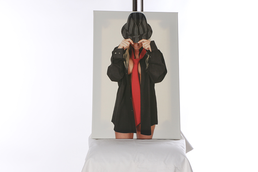 Canvas Print Hat and Tie Image
