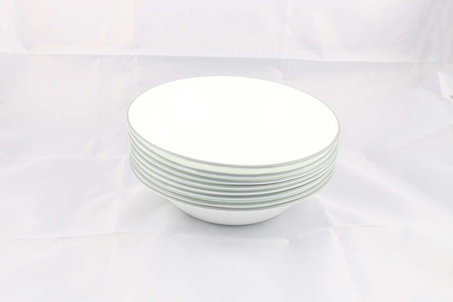 White and Gray Bowls Image