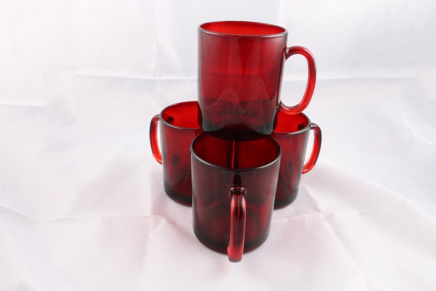 Opaque Red Coffee Mugs Image