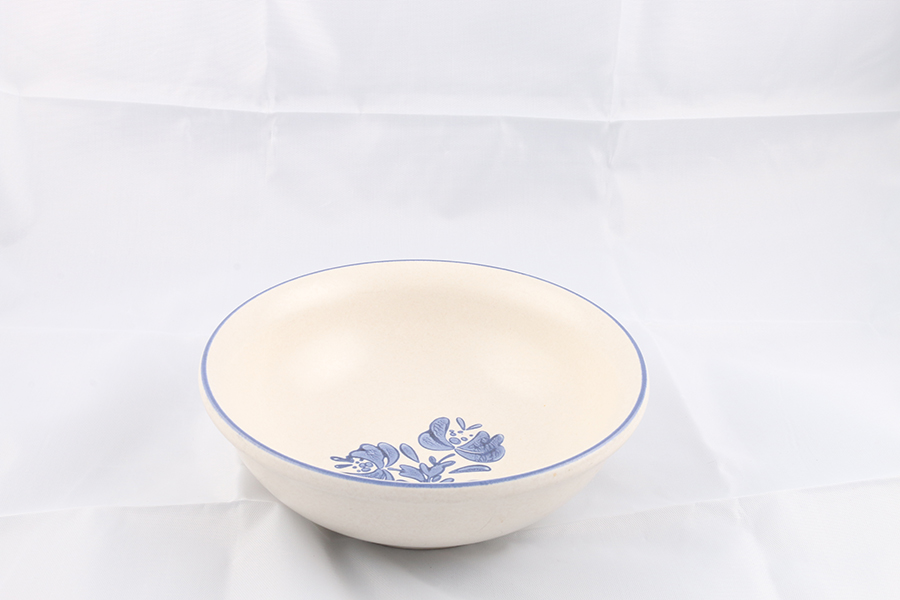 White and Blue Bowl Image