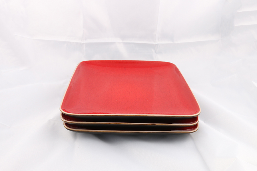 Small Red Square Plates Image