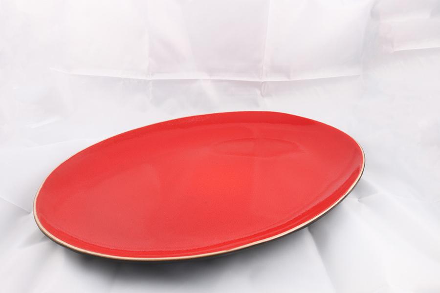 Red Serving Platter Image