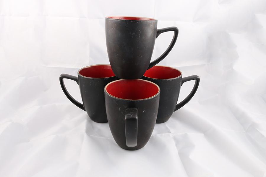 Red Circle Coffee Mugs Image