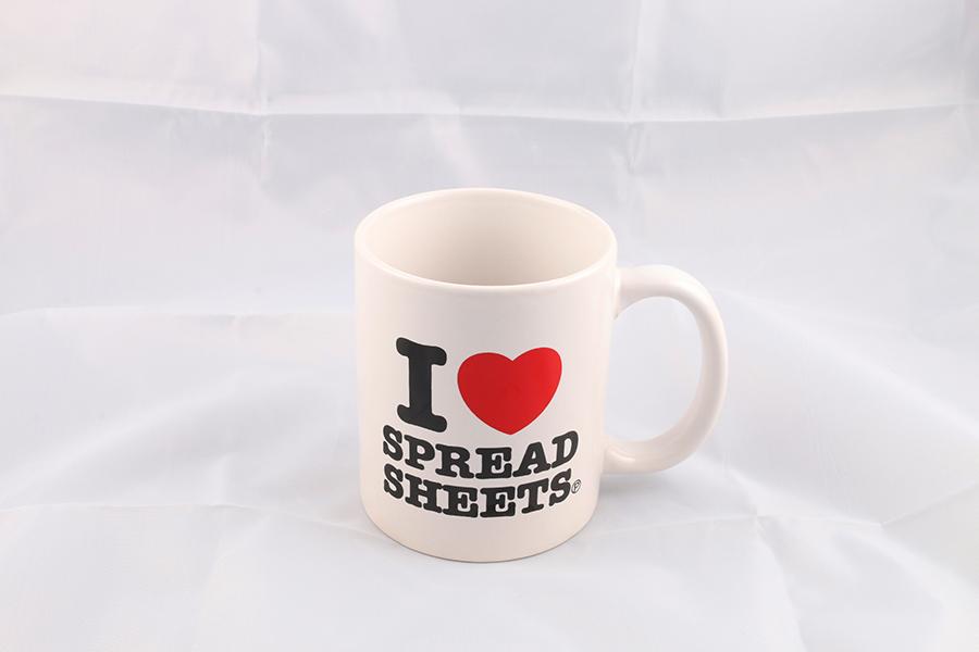 I Heart Spreadsheets Coffee Mug Image