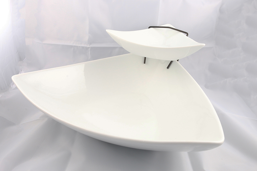 White Double Serving Platter Image