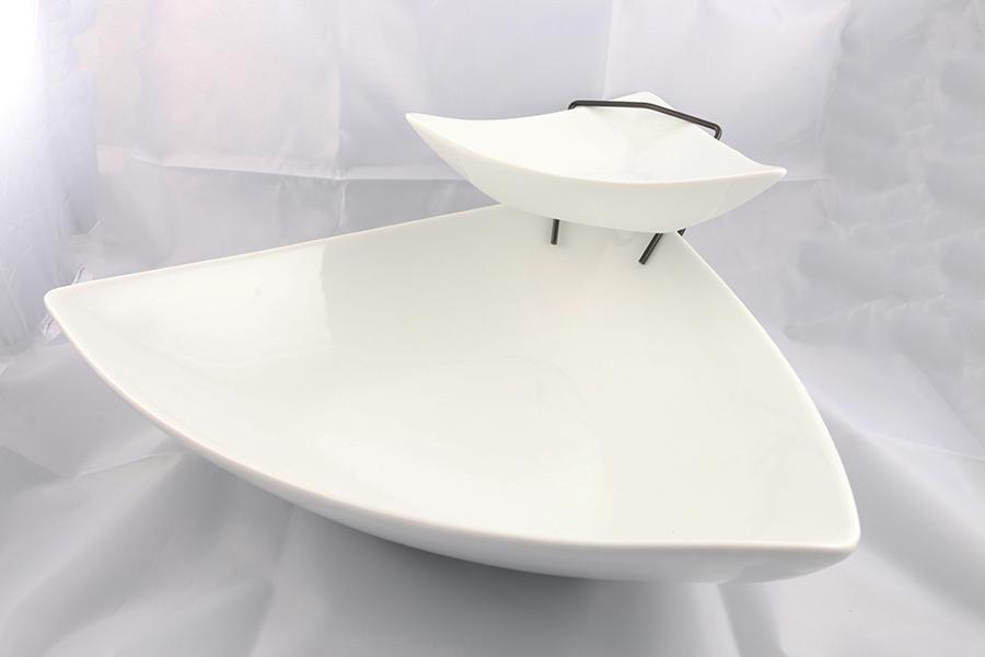 White Double Serving Platter Image