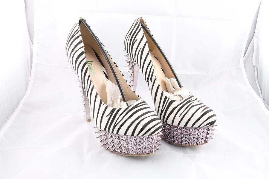 Zebra Spike Heels Image