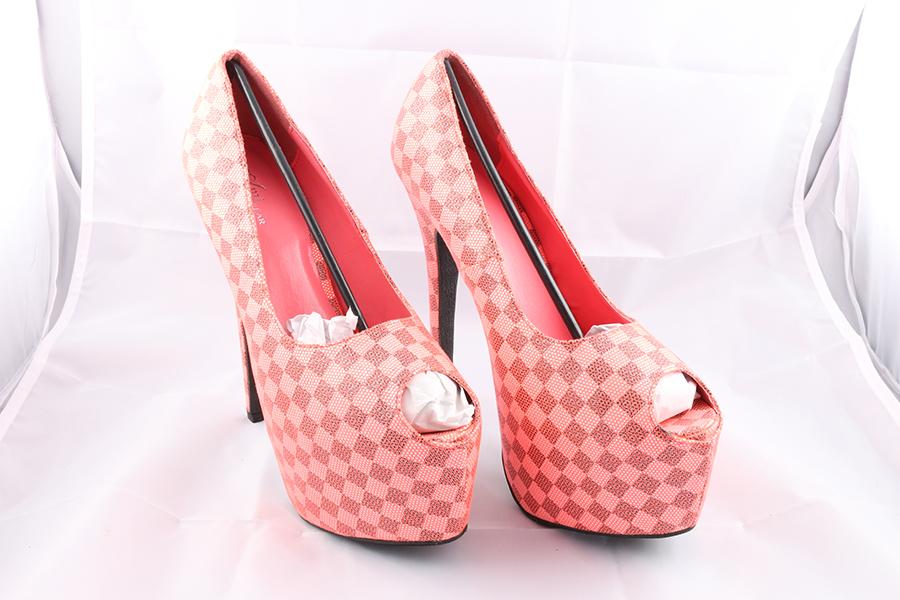 Pink Checker Heels Image