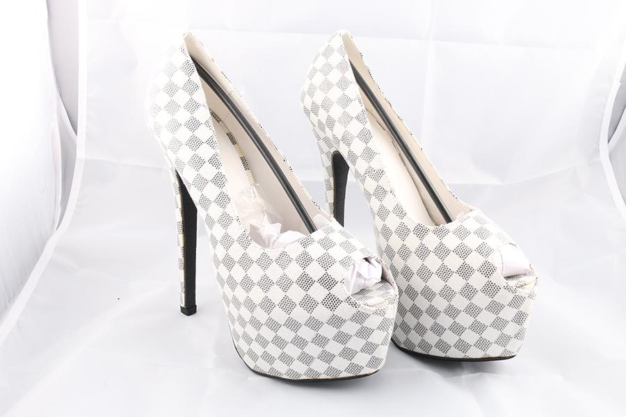 White Checker Heels Image