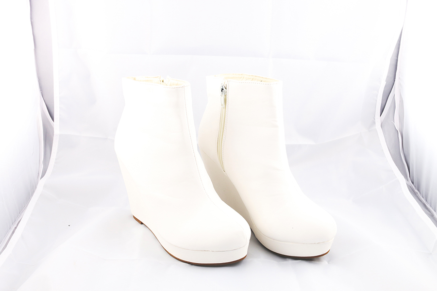 White Ankle Boots Image