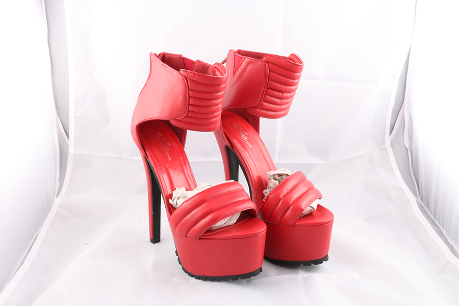 Red Ankle Heels Image