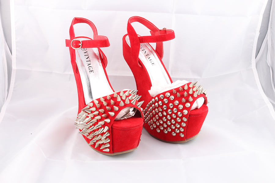 Red Spike Gravity Heels Image