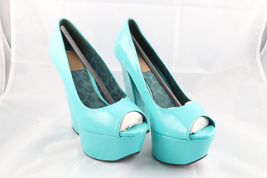 Teal Patent Heels Image