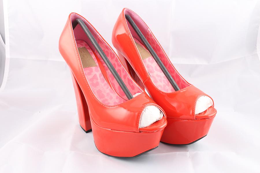 Red Patent Heels Image