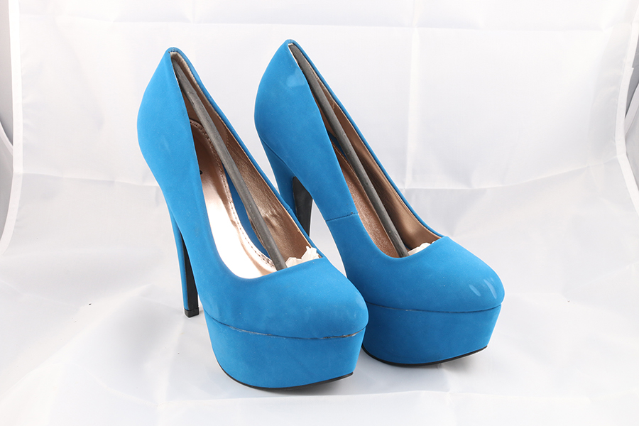 Blue Nubuck Heels Image