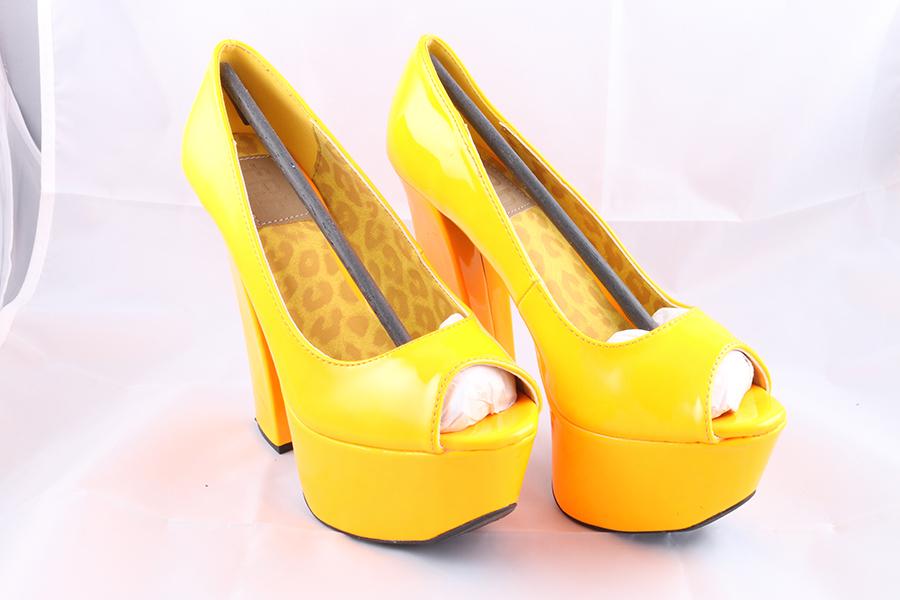 Orange Patent Heels Image