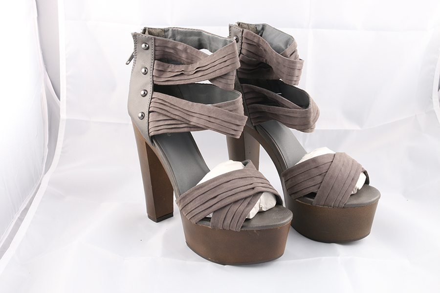 Gray Ankle Heels Image