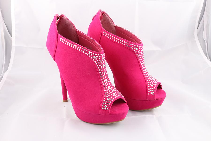 Fuchsia Gemstone Heels Image