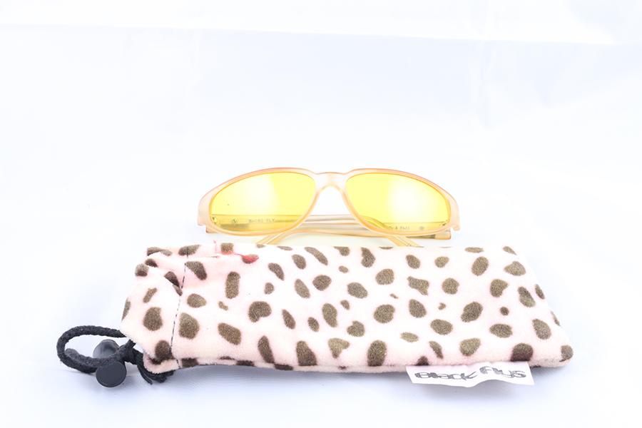Clear Frame Yellow Lens Black Flys Eyewear Image
