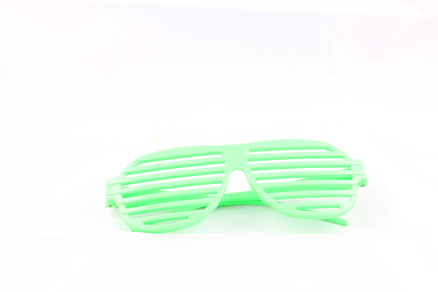 Bright Green Party Glasses Image