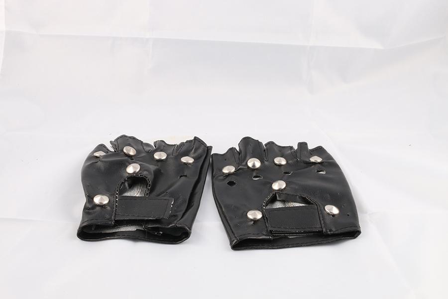Black Fingerless Gloves Image