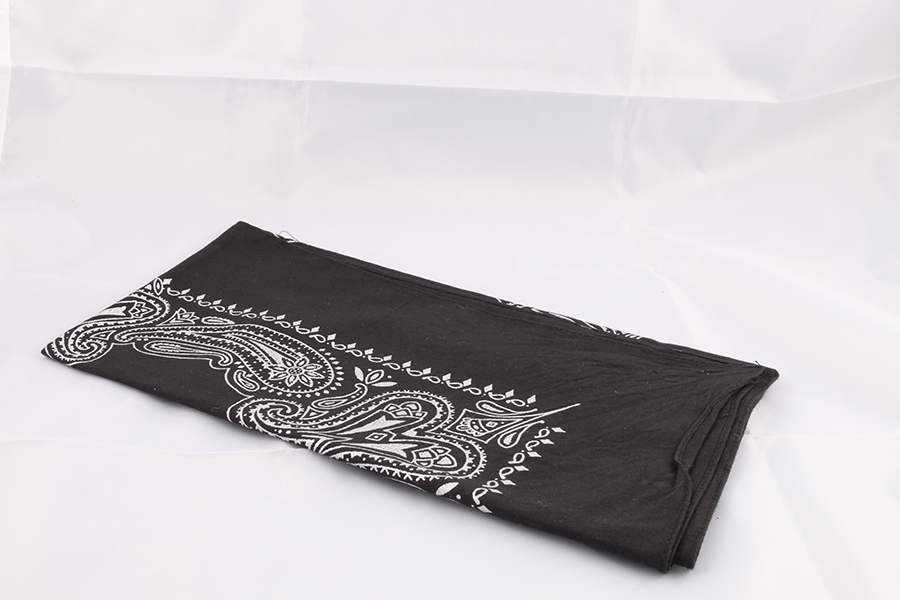 Black Silver Bandana Image