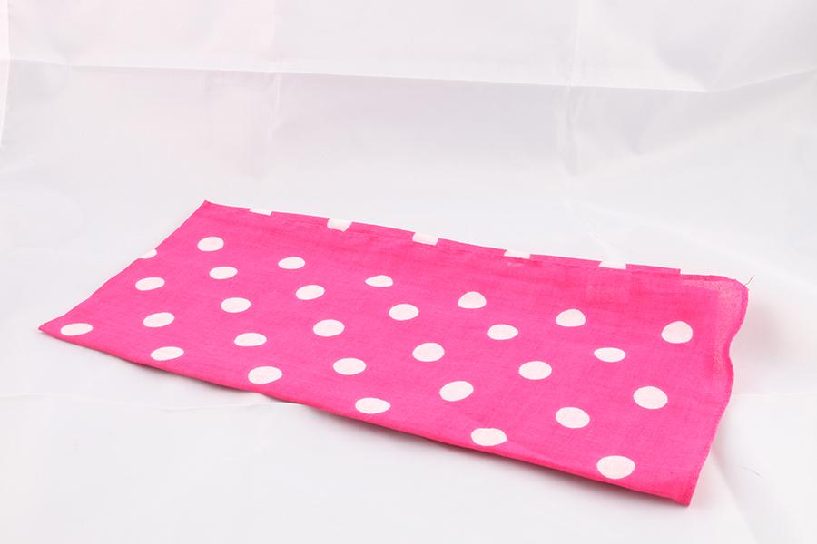 Pink White Polka Dot Bandana Image