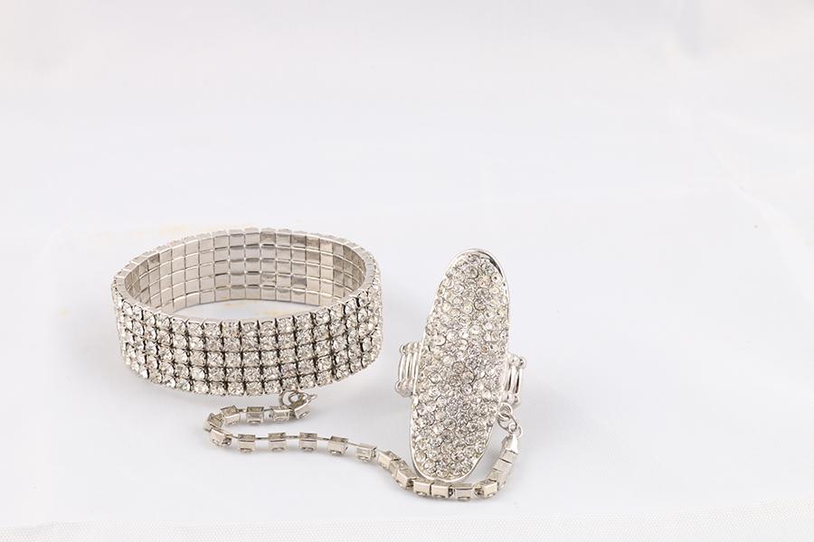 Gemstone Bracelet With Ring Image