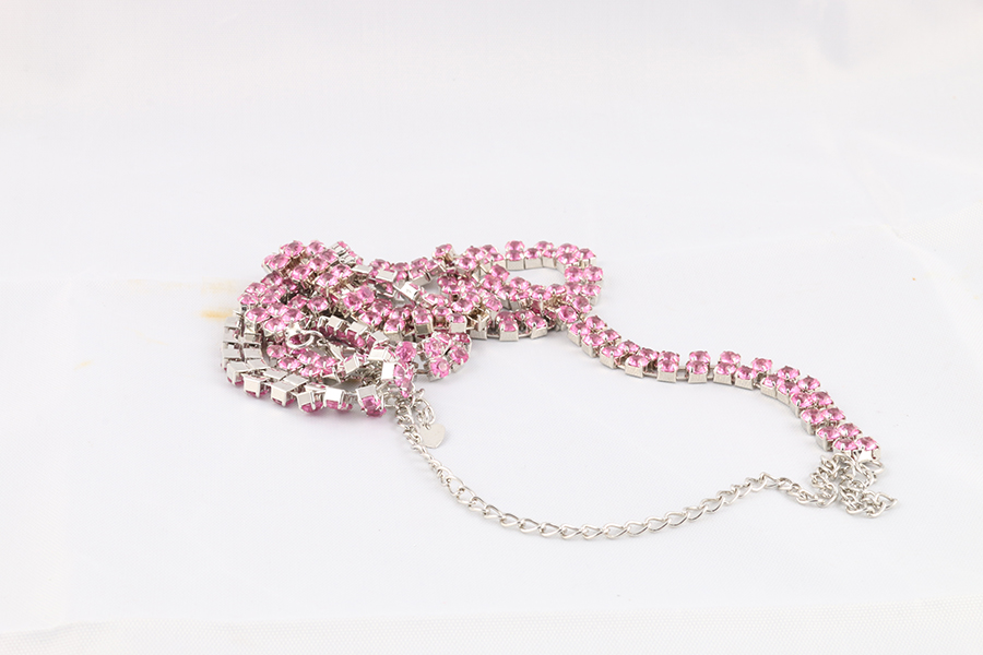 Pink Gemstone Belly Chain (1) Image