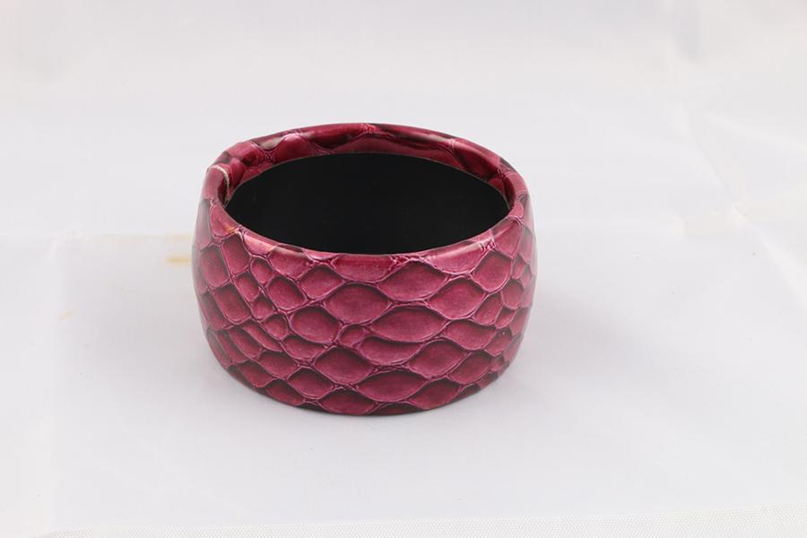 Burgundy Snake Bangle Bracelet Image