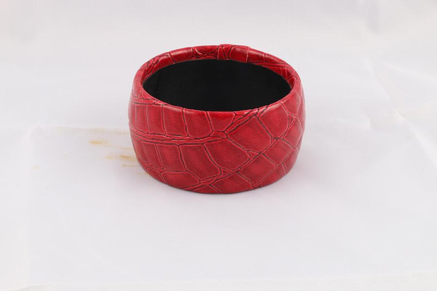 Red Alligator Bangle Bracelet Image