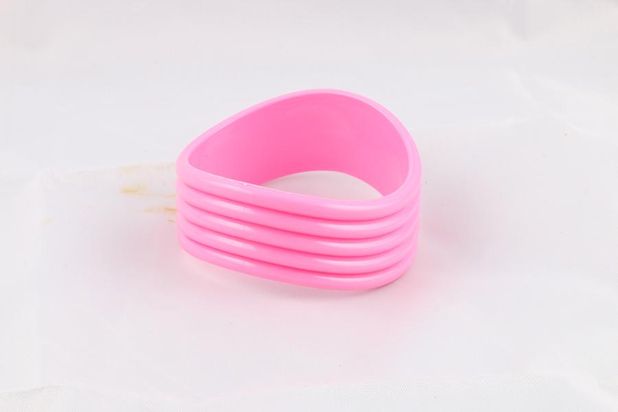 Pink Wavy Bangle Bracelet Image