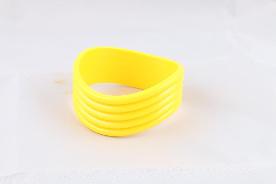 Yellow Wavy Bangle Bracelet Image