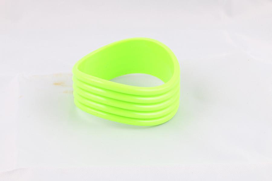 Bright Green Wavy Bangle Bracelet Image