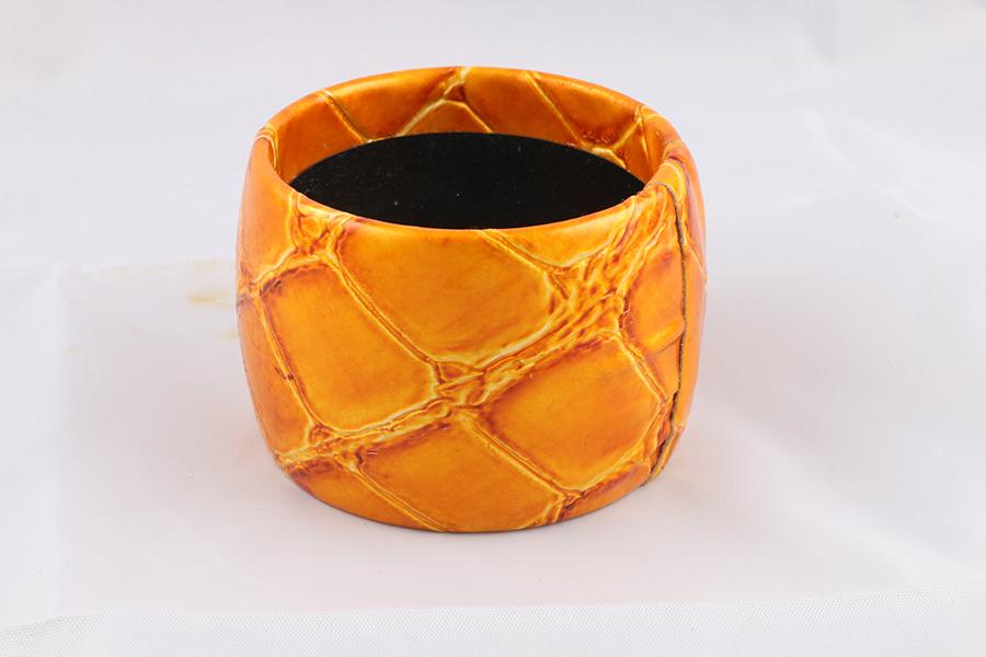 Orange Alligator Bangle Bracelet Image
