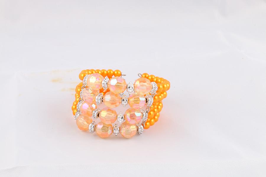 Orange Beaded Bracelet Image