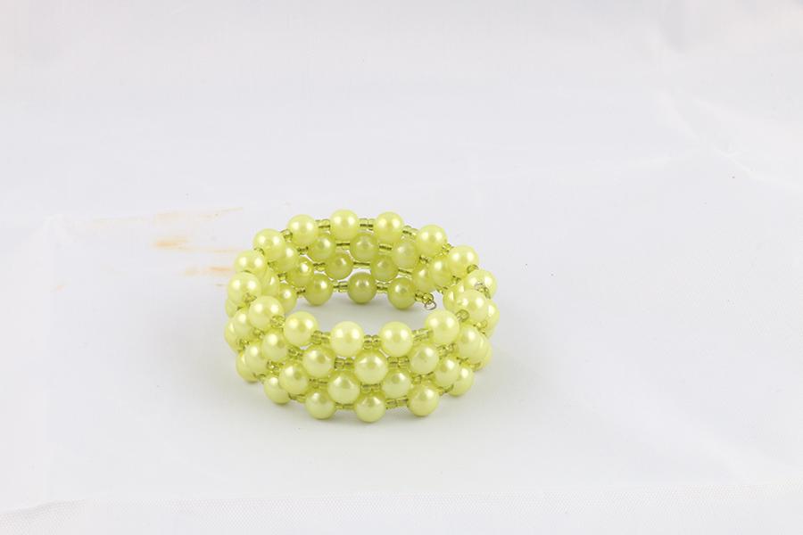 Green Beaded Bracelet Image