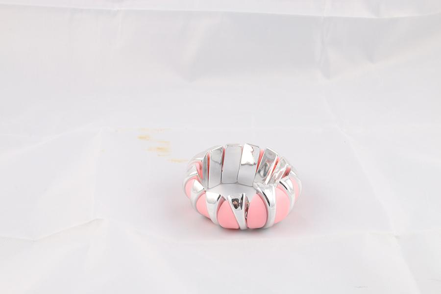 Light Pink Silver Bracelet Image