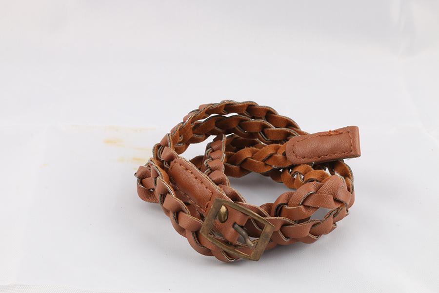Ladies Braided Brown Belt Image