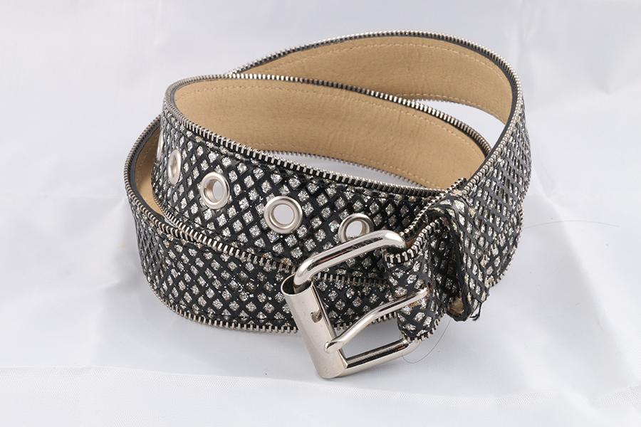 Ladies Black Silver Belt Image