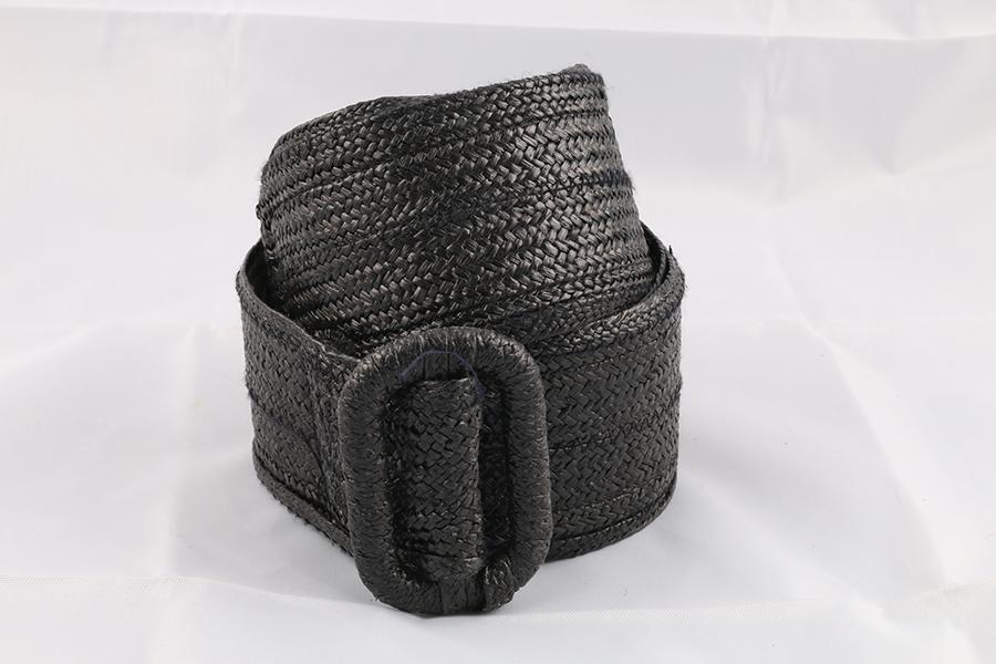 Ladies Black Woven Belt Image