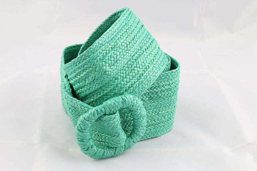 Ladies Green Woven Belt Image