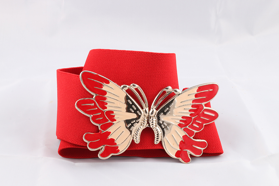 Ladies Red Butterfly Belt Image