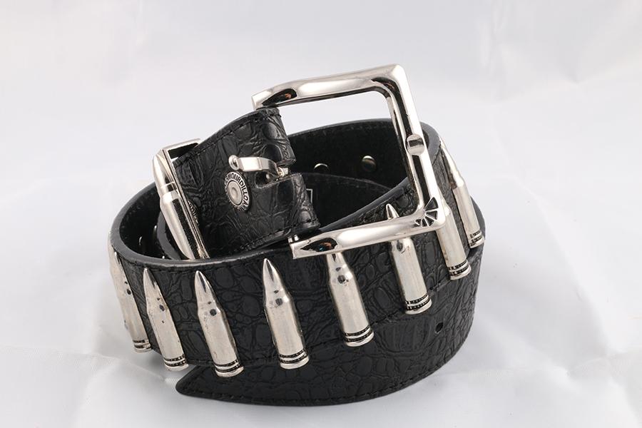 Unisex Bullet Black Belt Image